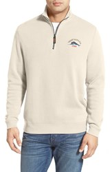 Men's Tommy Bahama 'Classic Aruba' Original Fit Half Zip Sweater Coconut Cream