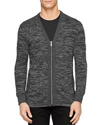 Calvin Klein Space Dye Zip Cardigan Grey