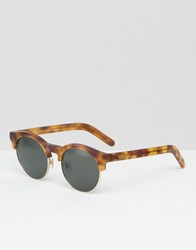 Han Kjobenhavn Sunglasses Round Smith Brown