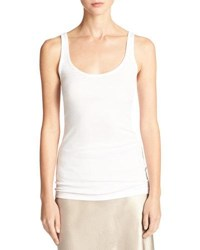 Vince Scoop Neck Tank Top White