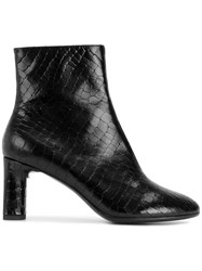 Robert Clergerie Zipped Ankle Boots Calf Leather Leather Black