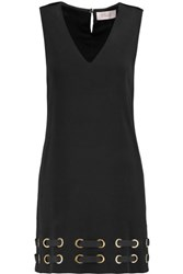 Derek Lam 10 Crosby By Lace Up Crepe Mini Dress Black