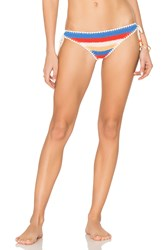 Seafolly Caribbean Kool Tie Side Brazilian Bottom Red