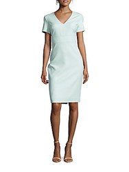 Shoshanna Solid Short Sleeve Dress Soft Mint
