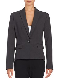 Ellen Tracy One Button Blazer Charcoal