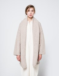 Lauren Manoogian Capote Coat In Ecru