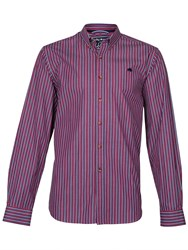 Raging Bull Long Sleeve Varied Stripe Shirt Blue