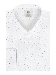 Paul Smith Men's Ps By Formal All Over Spot Print Shirt White