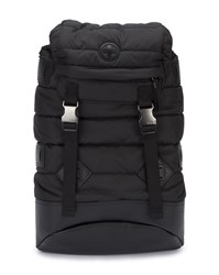 Polo Ralph Lauren Black Padded Leather And Nylon Backpack