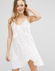Native Rose Swing Dress With Low Back White