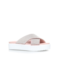 Carvela Krypton Flat Platform Slip On Sandals Nude