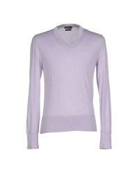 Tom Ford Knitwear Jumpers Men Lilac