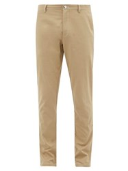 Burberry Slim Fit Cotton Chino Trousers Beige