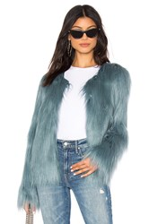 Unreal Fur Dream Faux Jacket Teal
