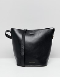 Paul Costelloe Real Leather Bucket Bag Black