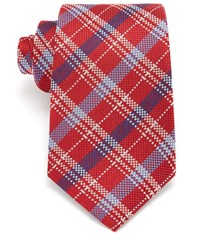 Austin Reed Red And Light Blue Check 8Cm Silk Tie Mid Blue