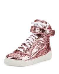 Givenchy Glitter High Top Sneaker Pink