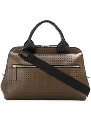 Marni Perforated Tote Green