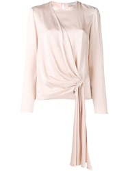 Lanvin Gathered Front Blouse Nude And Neutrals