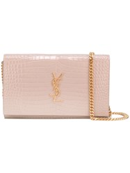 Saint Laurent Monogram Chain Wallet Pink Purple
