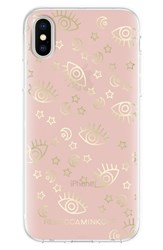 Rebecca Minkoff Metallic Galaxy Icon Iphone X Case Pink Rose Gold Gold Foil