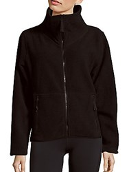 Betsey Johnson Faux Shearling Polar Fleece Zip Jacket