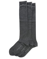 Falke 3 Pair Pack Of Charcoal Tiago Knee High Socks