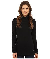 Burton Her Logo Mock Neck Pullover True Black Women's Sweatshirt