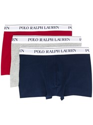 Polo Ralph Lauren Set Of Three Logo Waistband Boxers Red