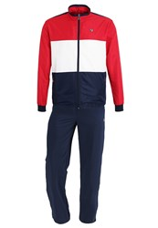 Fila Jean Tracksuit Peacoat Blue White Red Dark Blue