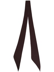 The Soloist Thin Scarf Unisex Silk One Size Brown