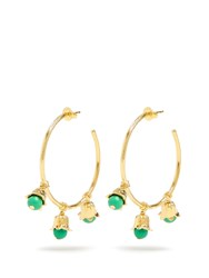 Aurelie Bidermann Lily Of The Valley Gold Plated Hoop Earrings Yellow Gold
