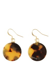 Jaeger Taylor Tortoiseshell Disc Earrings Brown