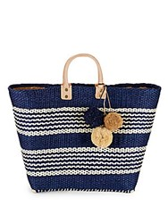 Mar Y Sol Caracas Textured Open Top Tote Natural Multi