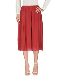 Pomandere 3 4 Length Skirts Brick Red