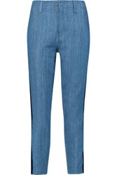 Rag And Bone Chino Mid Rise Slim Leg Pants Light Blue