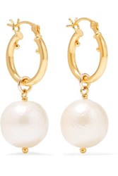 Chan Luu Gold Plated Pearl Earrings One Size