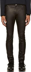 Closed Black Classic Leather Trousers