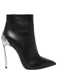 Casadei 120Mm Techno Blade Leather Ankle Boots