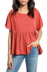 Free People Women's Odyssey Tee Red