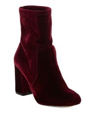 424 Fifth Grant Velvet Booties Black