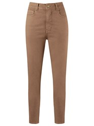 Amapo High Waisted Skinny Jeans Brown
