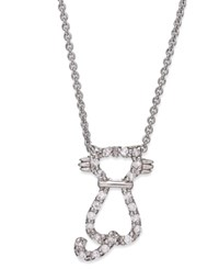 Giani Bernini Sterling Silver Necklace Cubic Zirconia Cat Pendant 1 3 Ct. T.W.