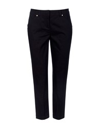Wallis Navy Stretch Crop Trouser