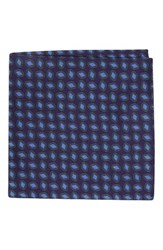 Ted Baker Men's London Neat Plaid Double Sided Silk Pocket Square Lilac