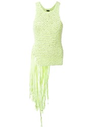Joseph Fringed Tricot Tank Top Green