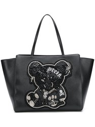 Philipp Plein Teddy Bear Tote Bag Black