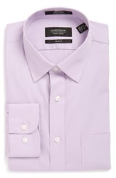 Men's Nordstrom Men's Shop Trim Fit Non Iron Dress Shirt Lavender Spray