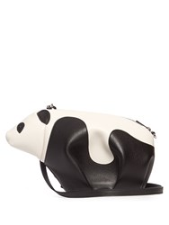 Loewe Panda Mini Leather Cross Body Bag Black White