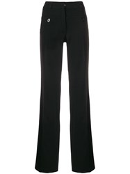 Carven Side Striped Trousers Black